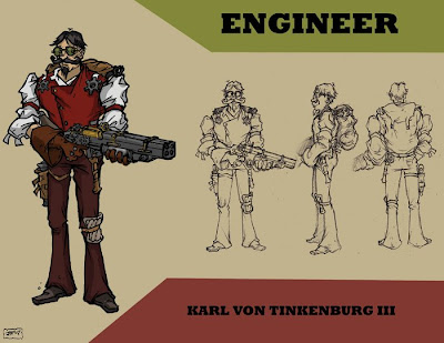 Engineer - steampunk character concept by JPowersDesign