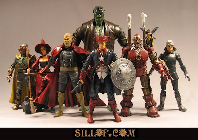 Sillof's steampunk action figures - avengers
