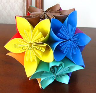 origami ball flowers