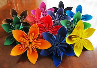 fold paper flower