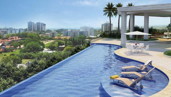 arquitetura e interiores piscina com borda infinita