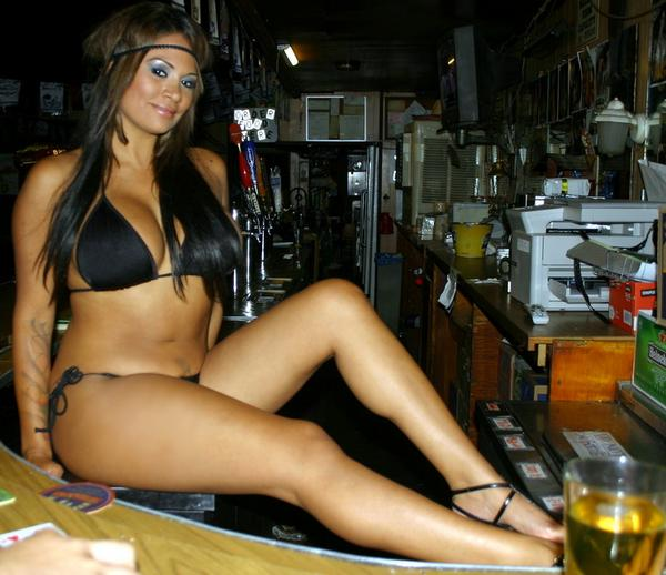 sexy latina waitress