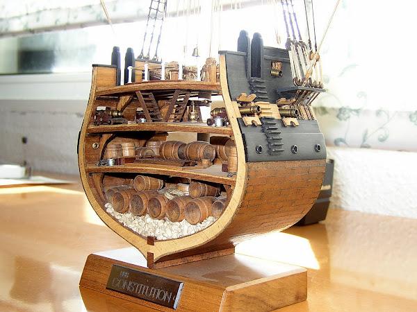 U:S:S Constitution. Fragata de Estados Unidos de 54 cañones - 1797 (Sección)