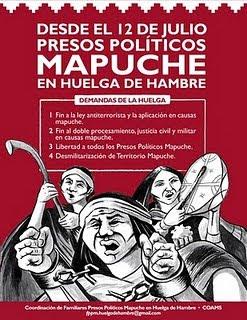 presos politicos mapuche en huelga de hambre