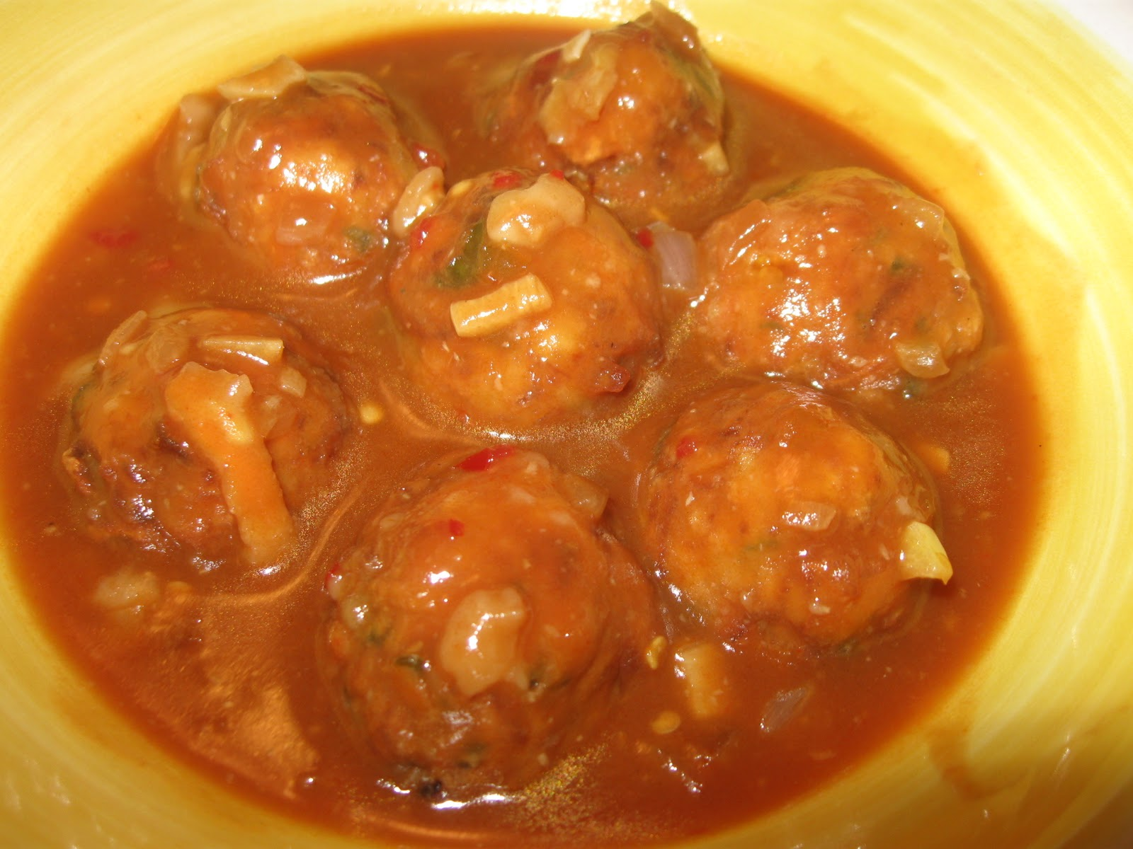 Vegetable Manchurian in gravy