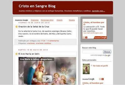 Christo en Sangre blog