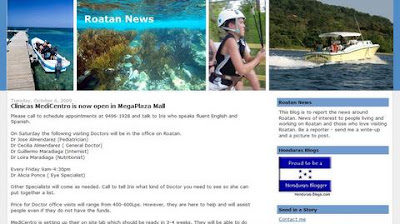 Roatan News blog
