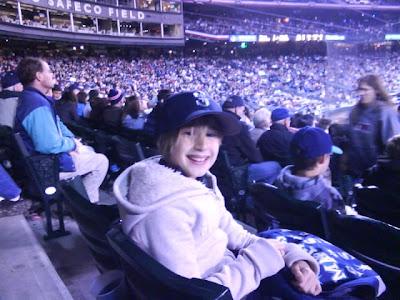 Ten year old Birthday Girl, Seattle Mariners v. Detroit, April 18, 2009. photo Chelsea Wendel/Group News Blog.
