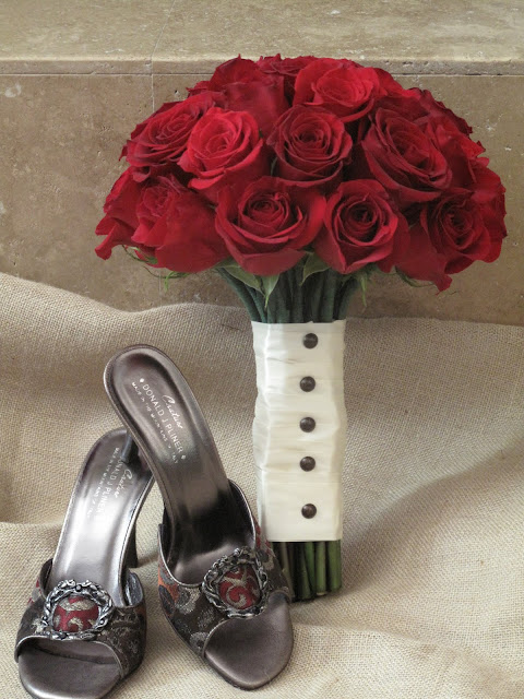 Bridal Bouquet of Red Roses