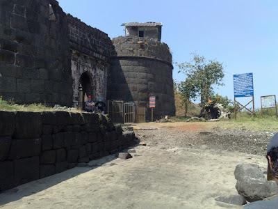Maha Darwaja, the Main Gateway of the Alibag Fort, Northeast Area.