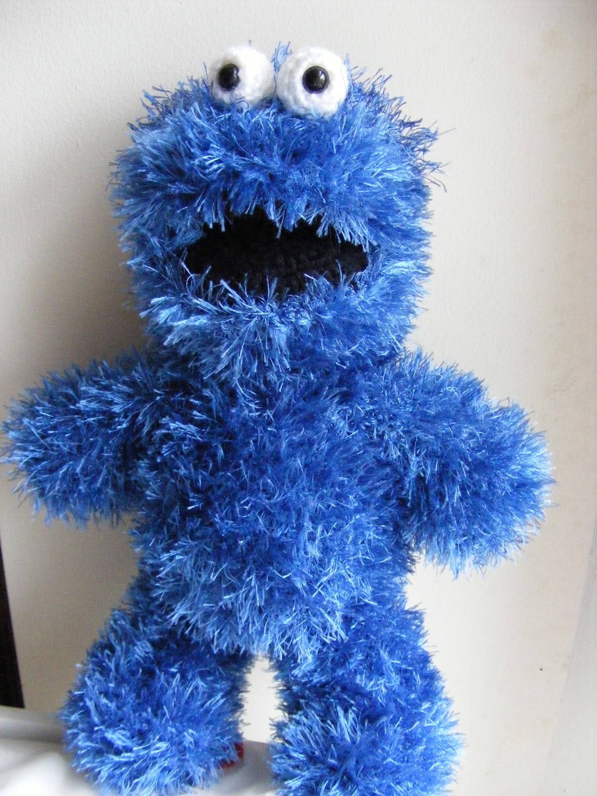 Amigurumi With Eyelash Yarn : Maggie Makes Stuff: Cookie Monster Pattern