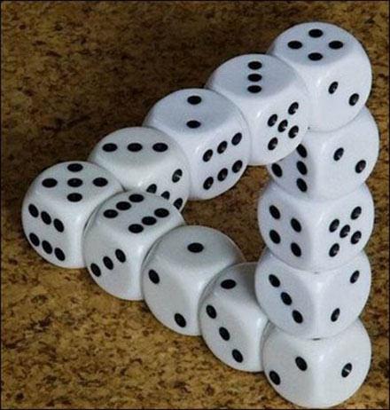 ilusiones opticas y figuras abstractas