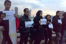 وقفة صامتة بالملابس السوداء على كورنيش كل محافظة فى مصر للتنديد بتفجير الإسكندرية