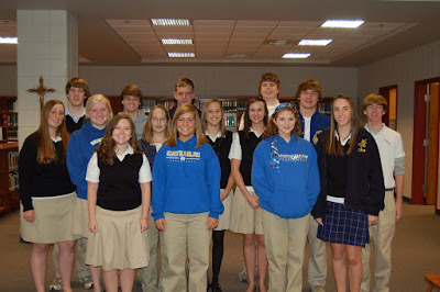 NHS taps 15 new members into Loretto Chapter at Montgomery Catholic 1