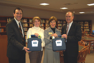 Montgomery Catholic Receives AEDs from Baptist Health Care Foundation 1