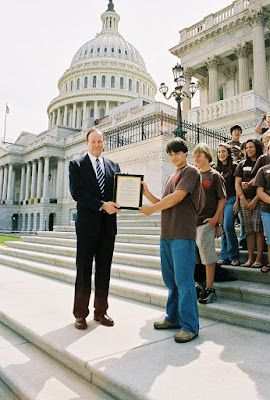 US Senator Richard Shelby Meets with Eighth Grade 1