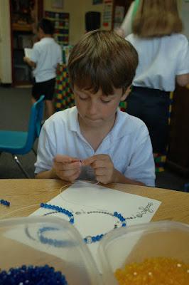Second Graders Create Rosaries 1