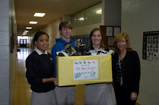 Montgomery Catholic Students Collect Shoes for The Children's Center 1