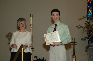 Jacob Weatherly Receives AATF Outstanding Senior in French Award 1