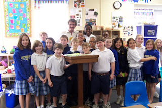 Local Radio Personality Visits St. Bede 1