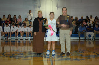 Seniors Presented at Basketball Game 1