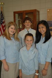 Montgomery Catholic Elects Middle School SGA Officers for 2010-2011 1