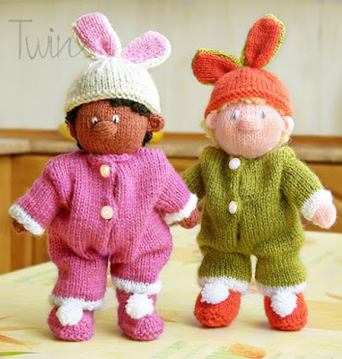 Knitted Toys: Nursery Knitted Dolls