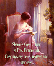 Click on the picture to go to my column, Sharon&#39;s Cozy Corner at FreshFiction.com
