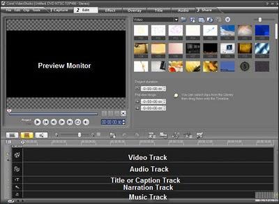 Corel VideoStudio 12 Timeline