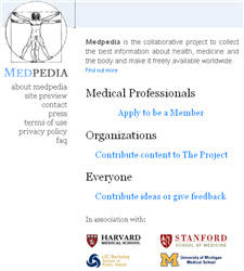 Medpedia Project Screen