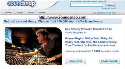 Soundsnap Log In Page