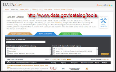 Tools Catalog via Data.gov