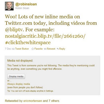 Example of permission message to view video