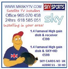 We install sky tv and freesat TV all across Spain