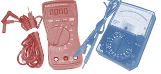 parts of digital and analog multimeter