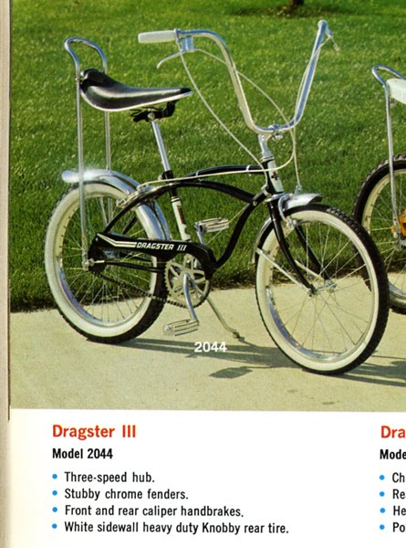 jot bicycles: 1966 Huffy Dragster III 3 speed Ad Picture