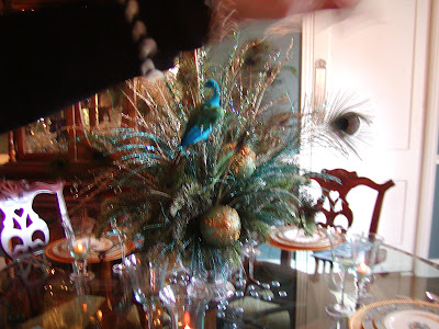Christmas Table Decoration Ideas on Dreams And Decor  Peacock Room On Christmas Home Tour