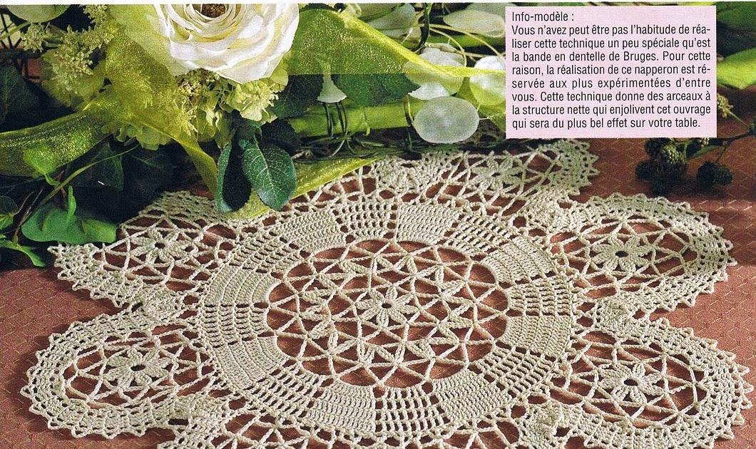 Cr ations crochet napperon dentelle de bruges - Napperon dentelle crochet ...