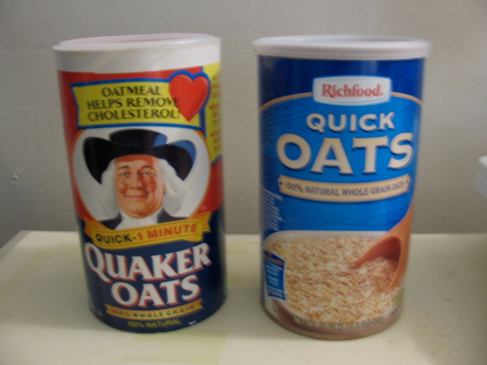 DIY: Oatmeal Storage Containers