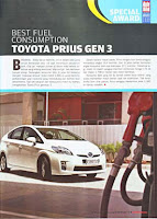 Toyota Prius Gen 3 : Best Fuel Consumption