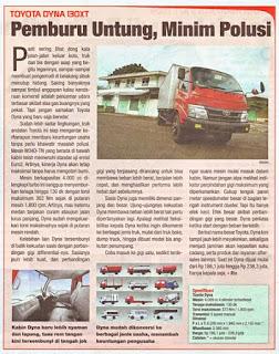 Toyota Dyna 130 XT : Review Majalah Otomotif