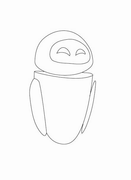 wall e coloring pages wall es friend eve high quality coloring page