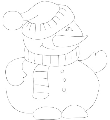 Christmas snowman coloring pages. Simple and easy christmas coloring sheets.