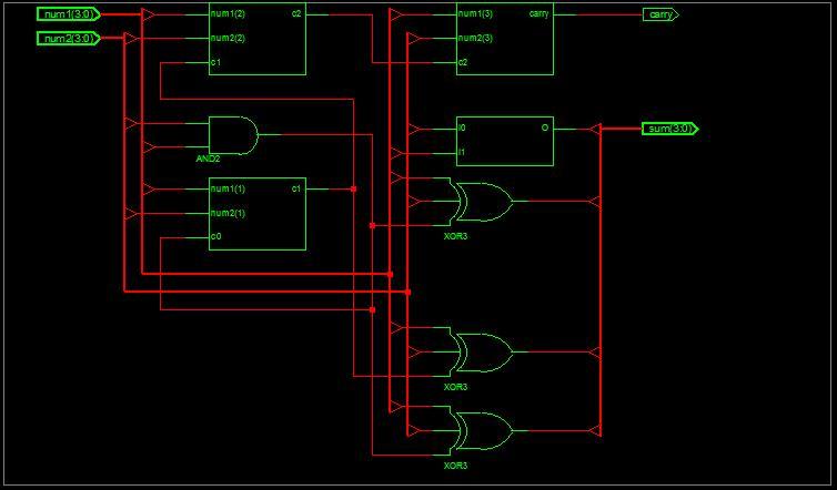 4 bit alu schematic