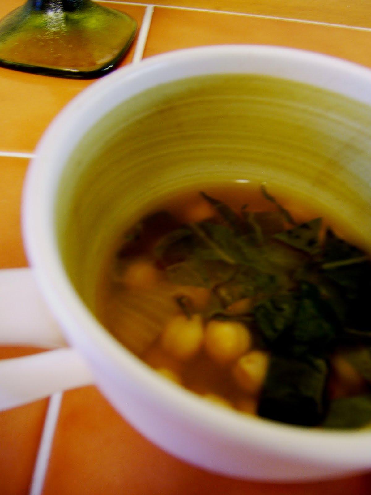 ... : Green Beans with Ginger-Tahini-Tamari Sauce   Ginger-Greens Soup