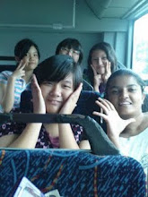 In the bus.
