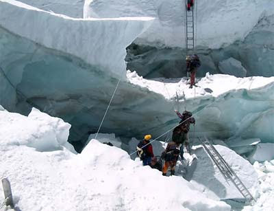 outdoor activities climbing mount everest.