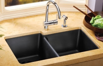 How To Clean Stone Sink : Kitchen sinks info: How to clean your granite kitchen sink