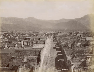 A photograph of Pompeii by Giacomo Brogi (1822-1881)