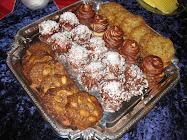 Julekyss, havreflarn, havreflarn med sjokolade og peanøtter